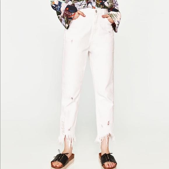 afa6b293 Zara Jeans | Distressed Mom Fit With Overdressed | Poshmark